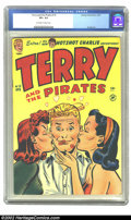 Golden Age (1938-1955):Adventure, Terry and the Pirates #15 (Harvey, 1949) CGC VF+ 8.5 Off-white to white pages. Powell art. Overstreet 2002 VF 8.0 value = $5...