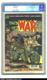 This Is War #5 Palo Alto Collection (Standard, 1952) CGC VF- 7.5 Off-white to white pages. First issue; Alex Toth art. O...