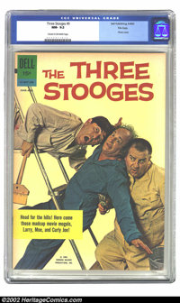 Three Stooges, The #9 File Copy (Gold Key, 1962) CGC NM- 9.2 Cream to off-white pages. This issue features a photo cover...