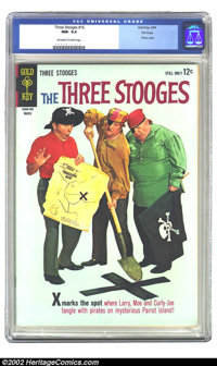 Three Stooges, The #16 File Copy (Gold Key, 1964) CGC NM- 9.2 Off-white to white pages. This issue features a photo cove...