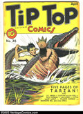 """Golden Age (1938-1955):Miscellaneous, Tip Top Comics #36 (United Features Syndicate, 1939) Condition: Qualified VG+. Grade is """"Qualified"""" due to cover being marri..."""