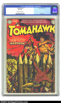 Tomahawk #3 (DC, 1951) CGC VF 8.0 Off-white to white pages. Overstreet 2002 VF 8.0 value = $232