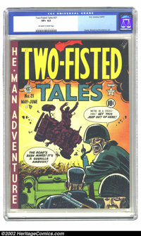 Two-Fisted Tales #21 (EC, 1951) CGC VF+ 8.5 Off-white to white pages. Overstreet 2002 VF 8.0 value = $210