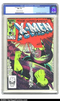 The Uncanny X-Men #176 (Marvel, 1983) CGC NM+ 9.6 Off-white to white pages. Classic cover. John Romita Jr. cover and art...
