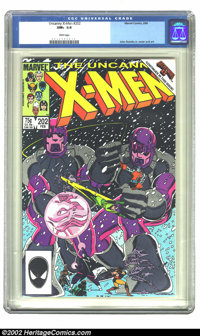 The Uncanny X-Men #202 (Marvel, 1986) CGC NM+ 9.6 White pages. John Romita Jr. cover and art. Overstreet 2002 NM 9.4 val...