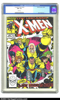 The Uncanny X-Men #254 (Marvel, 1989) CGC NM+ 9.6 White pages. Overstreet 2002 NM 9.4 value = $6