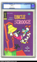 Bronze Age (1970-1979):Cartoon Character, Uncle Scrooge #114 (Dell, 1974) CGC NM 9.4 Off-white to whitepages. Overstreet 2002 NM 9.4 value = $30. ...
