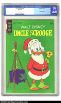 Bronze Age (1970-1979):Cartoon Character, Uncle Scrooge #96 (Dell, 1971) CGC NM- 9.2 White pages. Carl Barksreprint. Overstreet 2002 NM 9.4 value = $45. ...