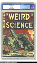Golden Age (1938-1955):Science Fiction, Weird Science #15 (EC, 1952) CGC VF- 7.5 Off-white pages. Wood,Ingels, and Kamen art. Overstreet 2002 VF 8.0 value = $231....