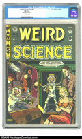Golden Age (1938-1955):Horror, Weird Science #15 (#4) (EC, 1950) CGC VF- 7.5 Off-white pages.Rusted staples, stains paper. Kurtzman, Ingels, and Kamen art...