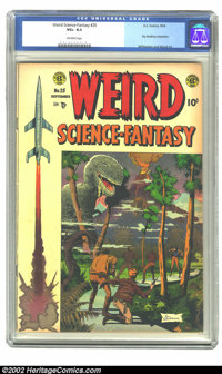 Weird Science-Fantasy #25 (EC, 1954) CGC VG+ 4.5 Off-white pages. Williamson and Wood art showcases Ray Bradbury adaptat...