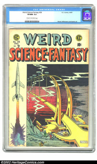 Weird Science-Fantasy #28 (EC, 1955) CGC VF/NM 9.0 Cream to off-white pages. Williamson, Wood, and Kamen art. Overstreet...