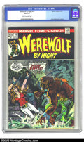 Bronze Age (1970-1979):Horror, Werewolf by Night #10 (Marvel, 1973) CGC NM 9.4 Cream to off-whitepages. Overstreet 2002 NM 9.4 value=$20....
