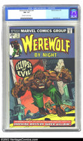 Bronze Age (1970-1979):Horror, Werewolf by Night #25 (Marvel, 1975) CGC NM- 9.2 Off-white to whitepages. Beautiful, high-grade copy with outstanding page ...