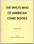 Bronze Age (1970-1979):Miscellaneous, The Who's Who of American Comic Books Vol. 1 (Jerry Bails, 1973)Condition: VF. Jerry Bails' incredible reference series, wh...