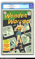 "Silver Age (1956-1969):Superhero, Wonder Woman #103 (DC, 1959) CGC VF 8.0 Cream to off-white pages. CGC notes: ""Date stamp on cover. ""4.00"" written on 1st pag..."
