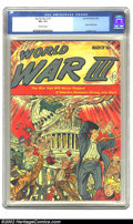 Golden Age (1938-1955):Science Fiction, World War III #1 (Ace, 1953) CGC VF+ 8.5 Off-white pages. Atom bomb cover; Cameron art. Overstreet 2002 VF 8.0 value = $398....