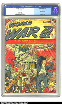 World War III #1 (Ace, 1953) CGC VF+ 8.5 Off-white pages. Atom bomb cover; Cameron art. Overstreet 2002 VF 8.0 value = $...
