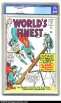 Silver Age (1956-1969):Superhero, World's Finest Comics #154 (DC, 1965) CGC VF/NM 9.0 Off-white to white pages. Overstreet 2002 NM 9.4 value = $60. ...