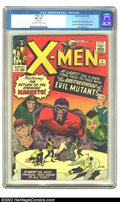 Silver Age (1956-1969):Superhero, X-Men #4 (Marvel, 1964) CGC FN- 5.5 Off-white to white pages. The first-ever appearance of the Brotherhood of Evil Mutants. ...
