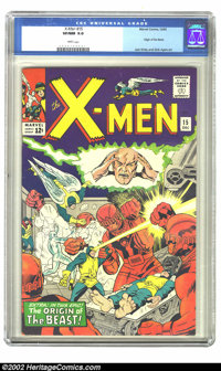 X-Men #15 (Marvel, 1965) CGC VF/NM 9.0 White pages. Origin of the Beast; Jack Kirby and Dick Ayers art. Overstreet 2002...