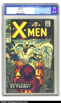X-Men #25 (Marvel, 1966) CGC NM- 9.2 Off-white to white pages. Overstreet 2002 NM 9.4 value = $150