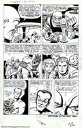 Original Comic Art:Panel Pages, Jack Kirby and Dick Ayers - Original Art for Fantastic Four #14,page 22 (Marvel, 1962). Under the spell of the Puppet Maste...