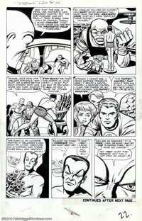Jack Kirby and Dick Ayers - Original Art for Fantastic Four #14, page 22 (Marvel, 1962). Under the spell of the Puppet M...