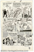 Original Comic Art:Panel Pages, Jack Kirby and Dick Ayers - Original Art for Fantastic Four #14, page 4 (Marvel, 1962). The entire team is featured in this ...