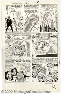 Jack Kirby and Dick Ayers - Original Art for Fantastic Four #14, page 4 (Marvel, 1962). The entire team is featured in t...