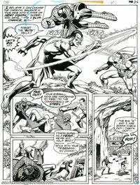 Ross Andru and Dick Giordano - Superman vs. Spider-Man, page 71 (DC/Marvel, 1976). Teamwork is the name of the game as S...