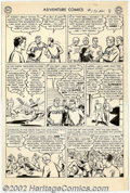 Original Comic Art:Panel Pages, George Papp - Original Art for Adventure Comics #170, page 8 (DC, 1950s). Clark Kent playing football? Looks like trouble in...