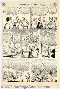 George Papp - Original Art for Adventure Comics #170, page 8 (DC, 1950s). Clark Kent playing football? Looks like troubl...
