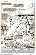 Original Comic Art:Splash Pages, Jackson Guice - Original Art Splash Page for X-Factor #1 (Marvel,1986). Cyclops uses his heat vision in this excellent spla...