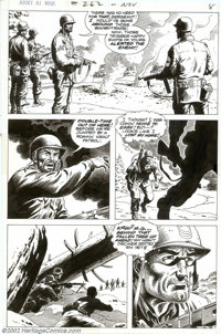 Russ Heath - Original Art for Our Army at War #262, story pages 7 and 11 (DC, 1973). Two expressive, action-packed pages...