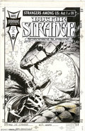 "Original Comic Art:Covers, Mark Buckingham - Original Cover Art for Doctor Strange #64(Marvel, 1994). Outstanding cover image by Mark Buckingham. 11"" ..."
