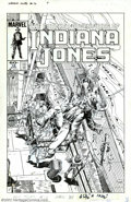 Original Comic Art:Covers, Herb Trimpe - Original Cover Art for The Further Adventures of Indiana Jones #16 (Marvel, 1983). Indy to the rescue! Action-...