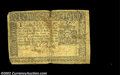 Colonial Notes:New York, New York September 2, 1775 $1 Fine. Heavily circulated, ...