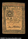 Colonial Notes:Pennsylvania, Pennsylvania October 1, 1773 10s Choice Very Fine. A nice, ...