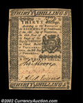 Colonial Notes:Pennsylvania, Pennsylvania December 8, 1775 30s About New. A very nice ...