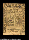 Colonial Notes:Rhode Island, Rhode Island May 1786 6s New. The margins are rather tight,...