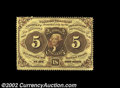 Fractional Currency:First Issue, Fr. 1229 5¢ First Issue Choice New. This is a fully ...