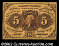 Fractional Currency:First Issue, Fr. 1230 5c First Issue Gem New. Well margined, bright, ...