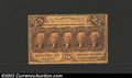 Fractional Currency:First Issue, First Issue 25c, Fr-1279, XF. This is a scarcer perforated ...