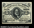 Fractional Currency:Third Issue, Fr. 1238 5c Third Issue Very Choice New. The back design ...