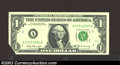 Error Notes:Foldovers, 1969-B $1 Federal Reserve Note, Fr-1905-A, Gem CU. This is ...