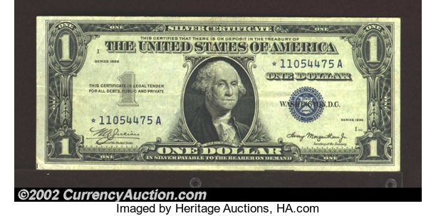 US Silver Certificates value