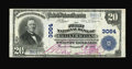 National Bank Notes:Kentucky, Princeton, KY - $20 1902 Plain Back Fr. 650 The First NB Ch. #3064. An attractive large size example with oversize red ...