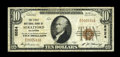 National Bank Notes:Oklahoma, Stratford, OK - $10 1929 Ty. 1 The First NB Ch. # 8524. A better note from a bank which is just about as difficult to fi...
