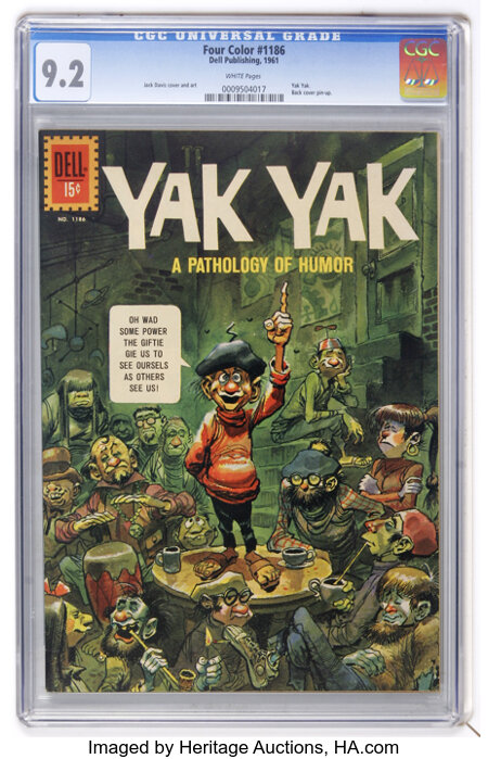 Four Color #1186 Yak Yak (Dell, 1961) CGC NM- 9.2 White pages....